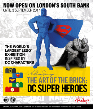 WIN tickets to see The Art of the Brick: DC Super Heroes!